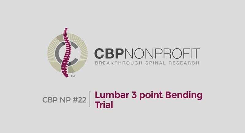 CBP NP #22: RCT Lumbar 3 Point Bending