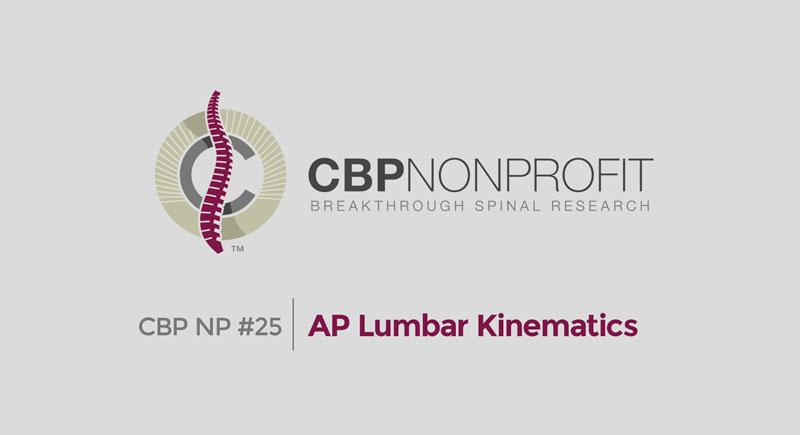 CBP NP #25: AP Lumbar Kinematics