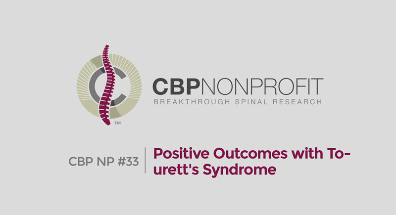 CBP NP #33: Positive Outcomes with Tourett's Syndrome