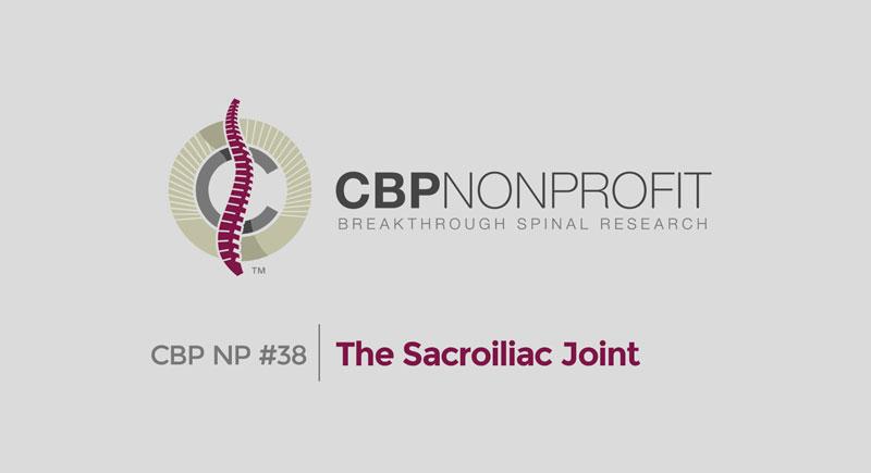 CBP NP #38: The Sacroiliac Joint